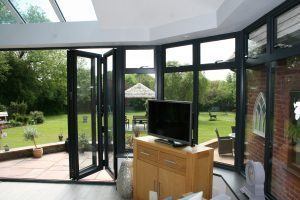 Edwardian Conservatory with Part Glazed Warm Roof