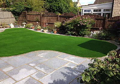 Synthetic lawn made from artificial grass